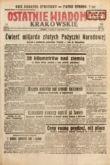 Ostatnie Wiadomości Krakowskie. 1933, nr274