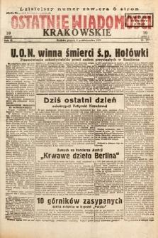 Ostatnie Wiadomości Krakowskie. 1933, nr277