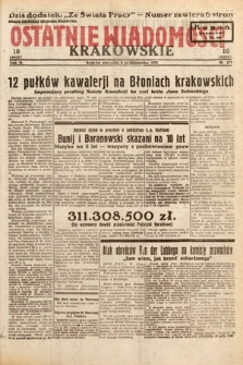 Ostatnie Wiadomości Krakowskie. 1933, nr279