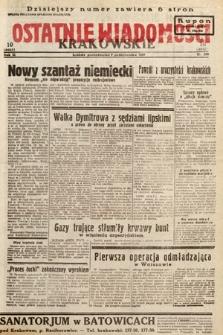 Ostatnie Wiadomości Krakowskie. 1933, nr280