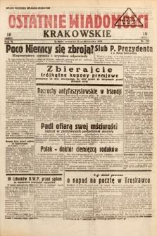 Ostatnie Wiadomości Krakowskie. 1933, nr286