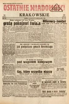 Ostatnie Wiadomości Krakowskie. 1933, nr289
