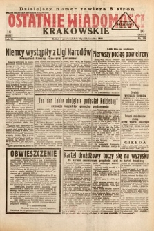 Ostatnie Wiadomości Krakowskie. 1933, nr290