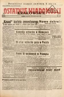 Ostatnie Wiadomości Krakowskie. 1933, nr293