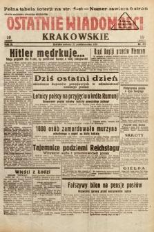 Ostatnie Wiadomości Krakowskie. 1933, nr295
