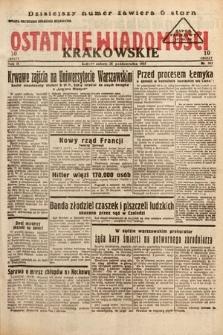 Ostatnie Wiadomości Krakowskie. 1933, nr302