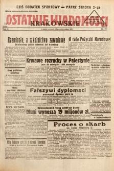Ostatnie Wiadomości Krakowskie. 1933, nr305