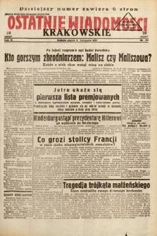 Ostatnie Wiadomości Krakowskie. 1933, nr308