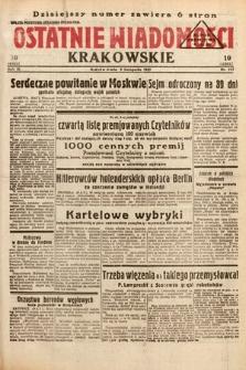 Ostatnie Wiadomości Krakowskie. 1933, nr313