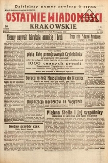 Ostatnie Wiadomości Krakowskie. 1933, nr314