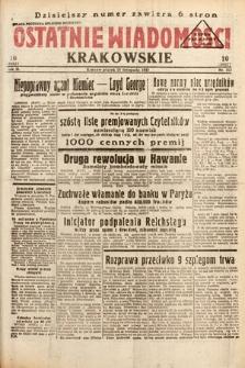 Ostatnie Wiadomości Krakowskie. 1933, nr315