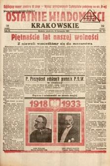 Ostatnie Wiadomości Krakowskie. 1933, nr317