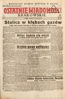 Ostatnie Wiadomości Krakowskie. 1933, nr322