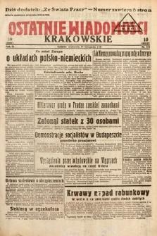Ostatnie Wiadomości Krakowskie. 1933, nr324