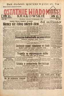 Ostatnie Wiadomości Krakowskie. 1933, nr326