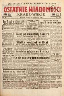 Ostatnie Wiadomości Krakowskie. 1933, nr329