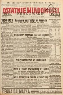 Ostatnie Wiadomości Krakowskie. 1933, nr335