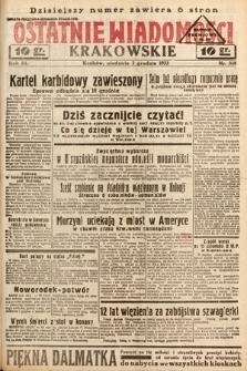 Ostatnie Wiadomości Krakowskie. 1933, nr338