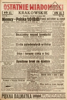 Ostatnie Wiadomości Krakowskie. 1933, nr340