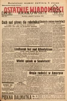 Ostatnie Wiadomości Krakowskie. 1933, nr343