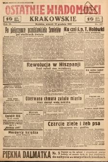 Ostatnie Wiadomości Krakowskie. 1933, nr347