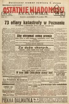 Ostatnie Wiadomości Krakowskie. 1933, nr353