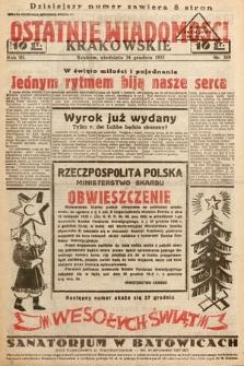 Ostatnie Wiadomości Krakowskie. 1933, nr359