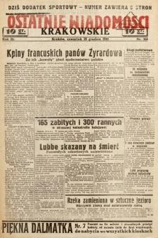 Ostatnie Wiadomości Krakowskie. 1933, nr360