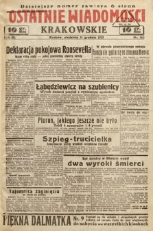 Ostatnie Wiadomości Krakowskie. 1933, nr363