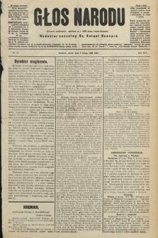Głos Narodu : dziennik polityczny, założony w r. 1893 przez Józefa Rogosza (wydanie poranne). 1906, nr58