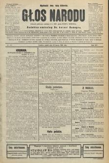 Głos Narodu : dziennik polityczny, założony w r. 1893 przez Józefa Rogosza (wydanie poranne). 1906, nr142
