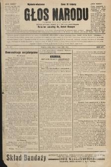 Głos Narodu : dziennik polityczny, założony w r. 1893 przez Józefa Rogosza (wydanie wieczorne). 1906, nr212
