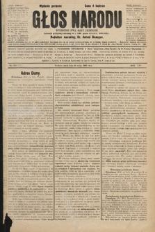 Głos Narodu : dziennik polityczny, założony w r. 1893 przez Józefa Rogosza (wydanie poranne). 1906, nr235