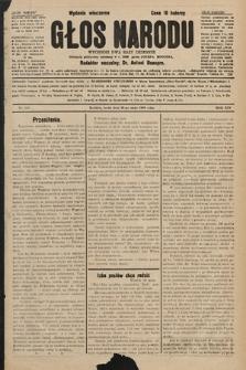 Głos Narodu : dziennik polityczny, założony w r. 1893 przez Józefa Rogosza (wydanie wieczorne). 1906, nr259