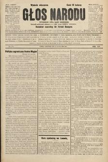 Głos Narodu : dziennik polityczny, założony w r. 1893 przez Józefa Rogosza (wydanie wieczorne). 1906, nr279