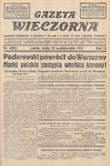 Gazeta Wieczorna. nr4892