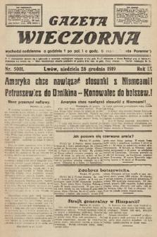 Gazeta Wieczorna. nr5001