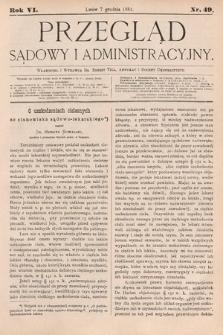 Przegląd Sądowy i Administracyjny. 1881, nr49