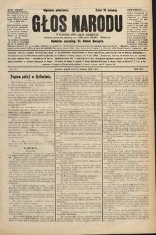 Głos Narodu : dziennik polityczny, założony w r. 1893 przez Józefa Rogosza (wydanie wieczorne). 1906, nr394