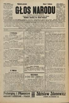 Głos Narodu : dziennik polityczny, założony w r. 1893 przez Józefa Rogosza (wydanie poranne). 1906, nr406