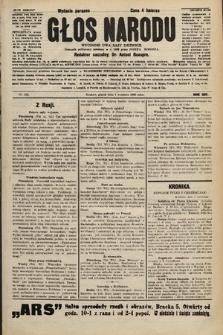 Głos Narodu : dziennik polityczny, założony w r. 1893 przez Józefa Rogosza (wydanie poranne). 1906, nr432