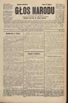 Głos Narodu : dziennik polityczny, założony w r. 1893 przez Józefa Rogosza (wydanie wieczorne). 1906, nr437