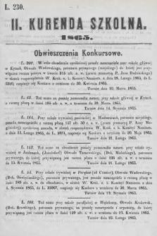 Kurenda Szkolna. 1865, kurenda2
