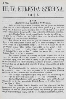 Kurenda Szkolna. 1865, kurenda3-4