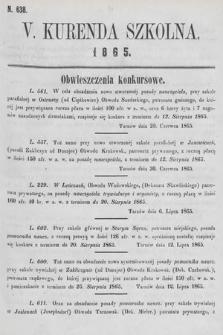 Kurenda Szkolna. 1865, kurenda5