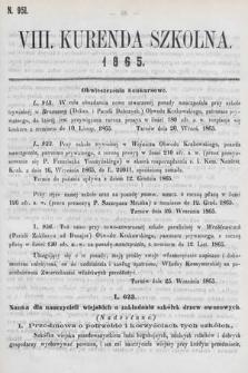 Kurenda Szkolna. 1865, kurenda8