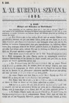 Kurenda Szkolna. 1865, kurenda10-11