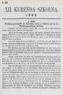 Kurenda Szkolna. 1865, kurenda12