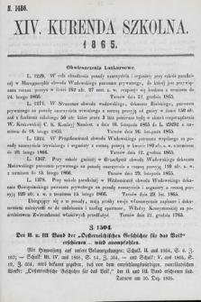 Kurenda Szkolna. 1865, kurenda14
