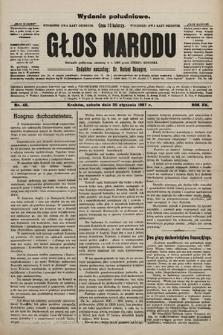 Głos Narodu : dziennik polityczny, założony w r. 1893 przez Józefa Rogosza (wydanie poranne). 1907, nr40